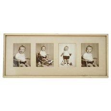 Vintage Toddler Photo Framed Set 1950s