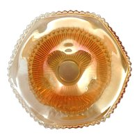 Jeannette Anniversary Carnival Glass Bowl Vintage Glass Marigold
