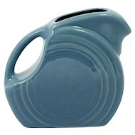 Blue Fiesta Ware Mini Disk Pitcher Homer Laughlin American Pottery