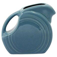 Blue Fiesta Ware Mini Disk Pitcher Homer Laughlin American Pottery