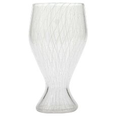 Reticello Murano Glass Vase  Latticino and Bubbles Hand Blown Art Glass