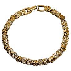 Swarovski Gold Plated Bracelet with Crystal Rhinestones
