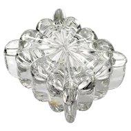 Heisey Crystolite Cigarette Box Elegant Glass vintage 1930s Signed