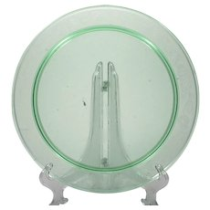 Macbeth-Evans Thistle Cake Plate Green Depression Glass Vintage