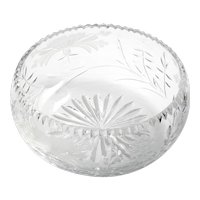 Royal Brierley Honeysuckle Crystal Bowl Vintage England Cut Glass Flowers