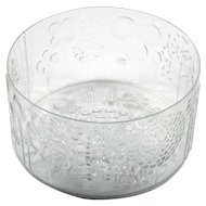 Iittala Flora Art Glass Bowl Scandinavian Crystal Vintage Finland