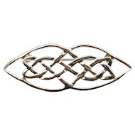 Silver Tone Celtic Knot Brooch