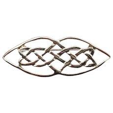 Silver Tone Celtic Knot Brooch