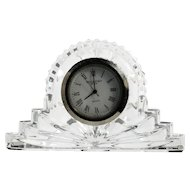Waterford Crystal Cottage Mantle Clock Irish Hand Cut Glass Original Label