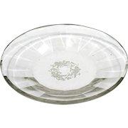 Heinrich Hoffmann Cherub Glass Plate Intaglio Cut Crystal 1933 Czech Glass