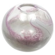 Randsfjordglass Pink Art Glass Vase Torgersen Norway Hand Blown Vintage