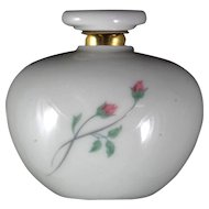 Lenox Rose Manor Perfume Bottle Porcelain Pink Roses Vintage Scent