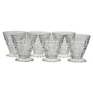 Fostoria Hermitage Fruit Cocktail Glass Set of 6 Vintage Elegant Glass Oyster