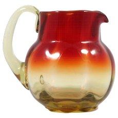 Amberina Art Glass Pitcher Hand Blown Metropolitan Museum of Art Reproduction MMA