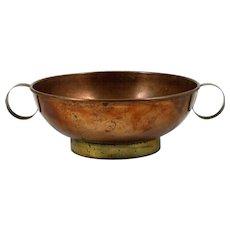 Harald Buchrucker Copper & Brass Bowl German 1930s Vintage Marked