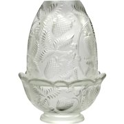Fenton Inverted Strawberry Fairy Light Crystal Mist Candle Holder Vintage Glass