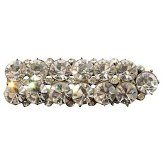 Vintage 1930s Rhinestone Bar Pin Crystal