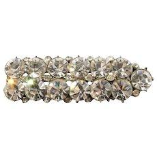 Vintage 1930s Rhinestone Bar Pin Crystal