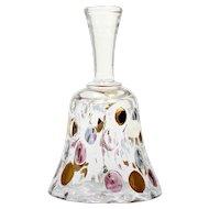 Czech Art Glass Nemo Bell Borske Sklo by Max Kannegiesser Bohemian Dots