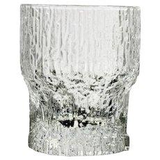 Iittala Aslak Liquor Cocktail Glass Vintage Finland Art Glass Ice Like