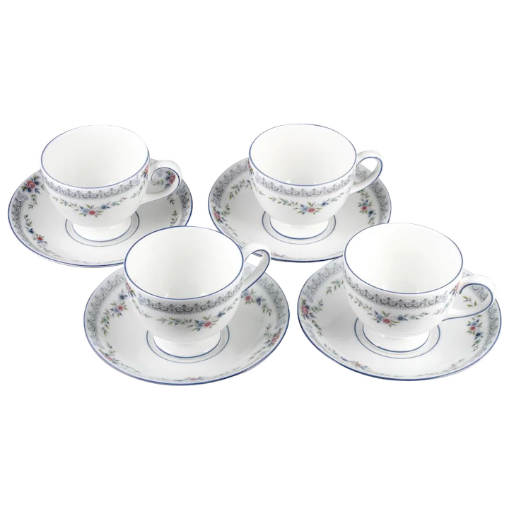 Wedgwood Rosedale Cups And Saucers Set