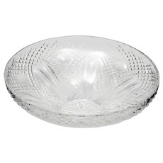 Waterford Cut Crystal Centerpiece Bowl Irish Art Glass 12 inch Vintage Giftware