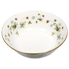 Royal Doulton Strawberries and Cream Serving Bowl Vintage English Porcelain