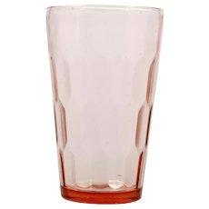 Jeannette Hex Optic Depression Glass Pink Tumbler Vintage 1930s Pressed
