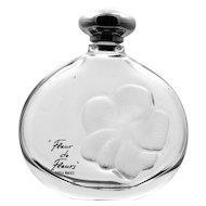 Lalique Perfume Bottle Nina Ricci Fleur De Fleurs Intaglio Frosted Glass