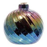Glass Eye Studio Oil Lamp Rainbow Iridescent Vintage Art Glass Seattle Washington