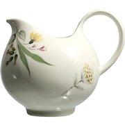 Hall Eva Zeisel Cream Pitcher Bouquet Pattern Flowers Vintage 1950s Mid Century Modern