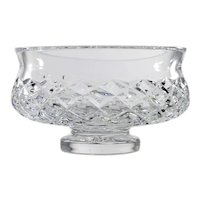 Waterford Cut Crystal Bowl Comeragh Diamond Cut Glass Vintage Irish Hand Made