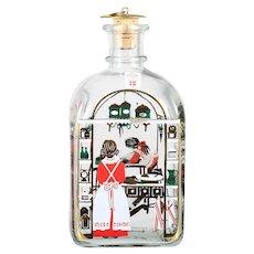 Vintage Holmgaard Glass Christmas Bottle Decanter 1992 Baking Kitchen Juleflaske