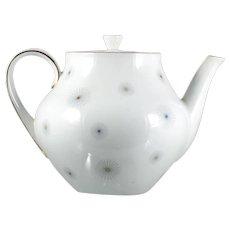 Vintage Porcelain Teapot Atomic Starburst Bavaria Seltmann Weiden Barbara MCM