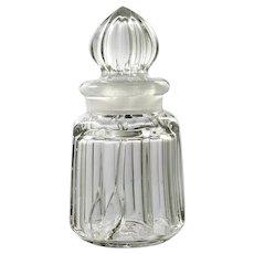 Heisey Elegant Glass Horseradish Jar Flat Panel No 352 Antique Original Spoon