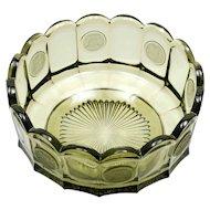 Fostoria Coin Olive Green Bowl Elegant Glass Vintage 1970s