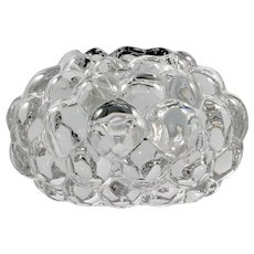 Orrefors Crystal Raspberry Candle Holder Tealight Scandinavian Art Glass Anne Nilsson