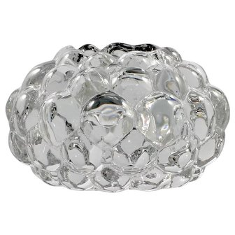 Orrefors Crystal Raspberry Candle Holder Tealight Scandinavian Art Glass Anne Nilsson