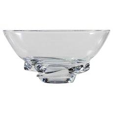 Steuben Crystal Spiral Bowl American Art Glass Donald Pollard 8060U Vintage