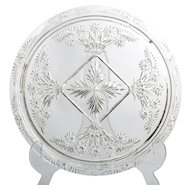Indiana Glass Floral Cake Plate Vintage Elegant Glass Number 731 Cake Stand