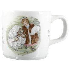 Wedgwood Porcelain Beatrix Potter Mug Miss Tiggy Winkle Hedghog Childs Cup English