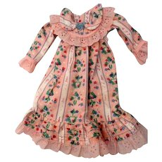 "Pin Flannel Nightgown for 14-16"" doll"