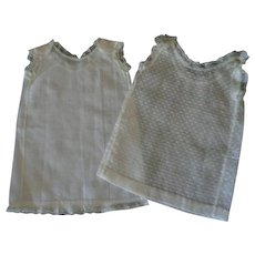 Two Doll Undergarments or Gowns