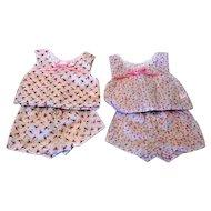 Two Pair of Doll Shorty Pajamas