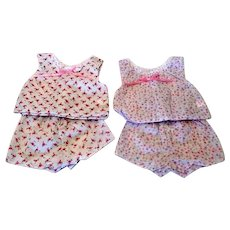 Two Pair of Doll Shorty Pajamas