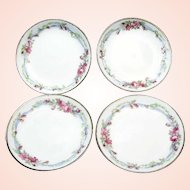 10- LIMOGES, France Butter Pats, WEDDING Wreath Pattern c.1900