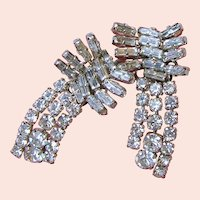 ~AUSTRIA CLIMBER Earrings ~ Vintage ~ Sparkling Rhinestones~