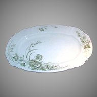 Victorian STAFFORDSHIRE TURKEY Platter Gilded Floral Design c.1891