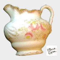 c.1900 LaBelle China's ~Floral Art Nouveau ~LEMONADE PITCHER
