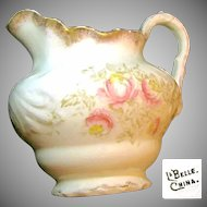 LaBelle China's Art Nouveau Floral LEMONADE PITCHER c.1900
